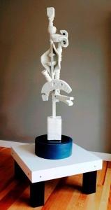 """""""Beneath the Frost"""", 2012, Wood, Ceramic and Plaster, 48""""H x 12.5""""D x 14""""W"""