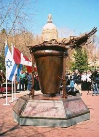 """Edmonton Holocaust Memorial"", 2002- 2003, 12'Hx11'Wx6'D"