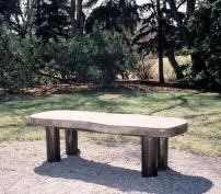 """Embossed Concrete Benches and Bins"", 2005, located at Belgravia Art Park."