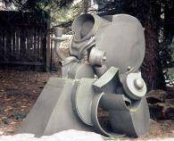 """Silver Service"", 2000, Welded Steel, Painted, 60""H x 55""Wx 38""D"