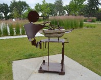 """Mandarin Flip"", 2005, 60H X 53W X 23D, Borden Park (July 2017)"